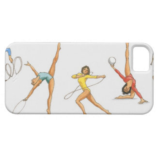 Series of illustrations showing rhythmic iPhone 5 covers