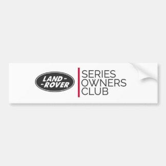 Series Owners Club  Sticker Bumper Sticker