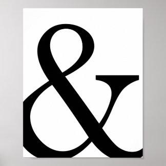 Serif Ampersand Poster Print