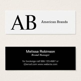 Serif Type Monogram Mini Business Card