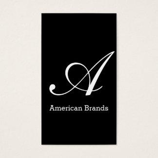 Serif Type Monogram (variation 3) Business Card