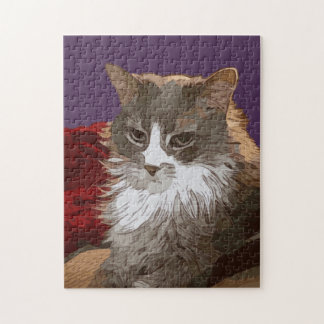 SERIOUS CAT JIGSAW PUZZLE