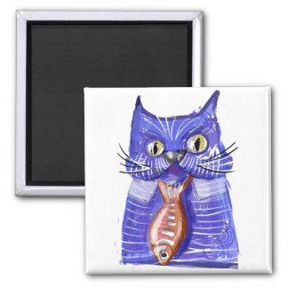 Serious Cat Fridge Magnets