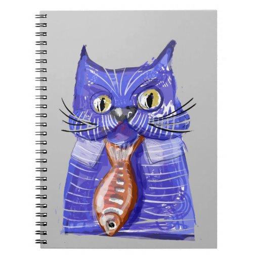 Serious Cat Spiral Notebook