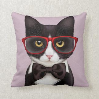 Serious Cat Throw Pillow