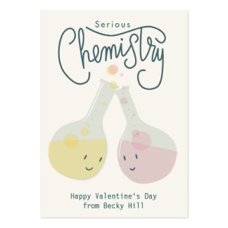 Serious Chemistry Valentine Card Business Card Template