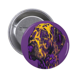 Serious Dalmatian. Standard, 2¼ Inch Round Button. 2 Inch Round Button