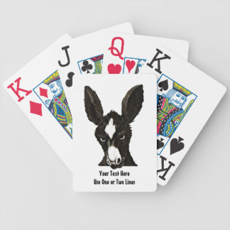 Serious Donkey Template-Customize With Your Text Poker Deck