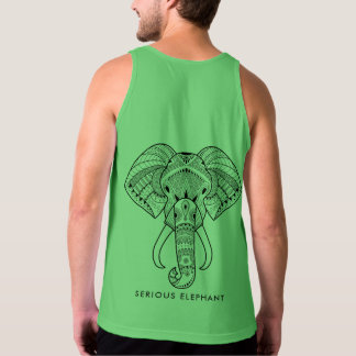 Serious Elephant Green - Sleeveless T-Shirt