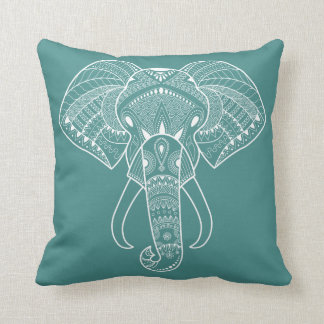 Serious Elephant One Pastel Color Throw Pillow