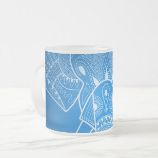 Serious Elephant Two - 10 oz Frosted Glass Mug