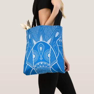 Serious Elephant Two Blue Gradation Tote Bag