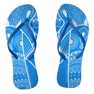 Serious Elephant Two - Blue Slim Straps Sandals