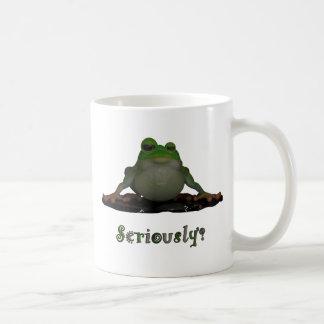 Serious Frog Coffee Mug