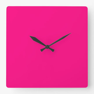 Serious Hot Pink Color Trend Blank Template Clock