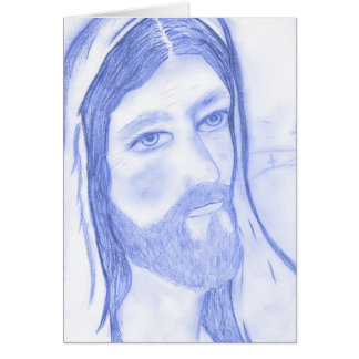 Serious Jesus Card