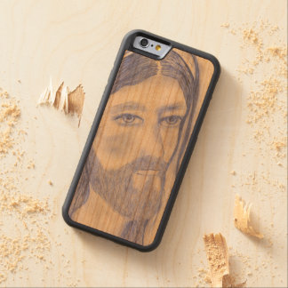 Serious Jesus Carved Cherry iPhone 6 Bumper Case