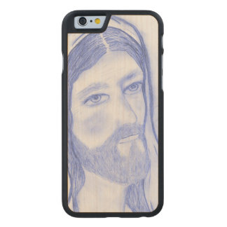 Serious Jesus Carved Maple iPhone 6 Case