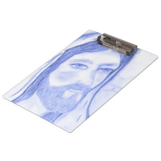 Serious Jesus Clipboard