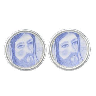 Serious Jesus Cuff Links