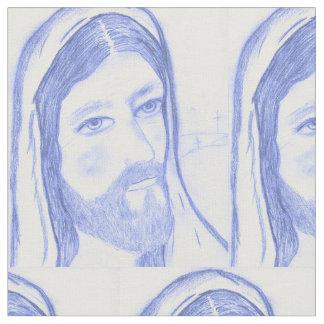 Serious Jesus Fabric