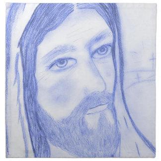 Serious Jesus Napkin
