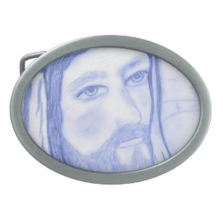 Serious Jesus Oval Belt Buckles