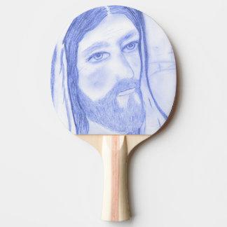 Serious Jesus Ping Pong Paddle