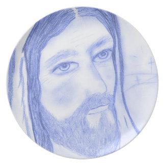 Serious Jesus Plate