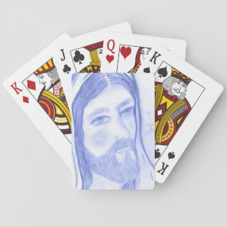 Serious Jesus Playing Cards