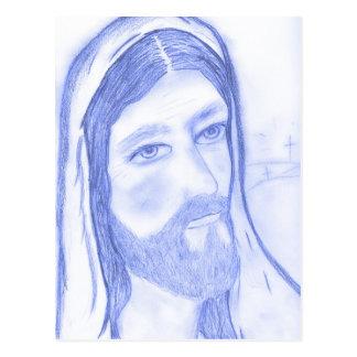 Serious Jesus Postcard