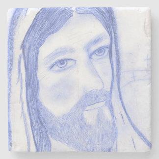 Serious Jesus Stone Coaster