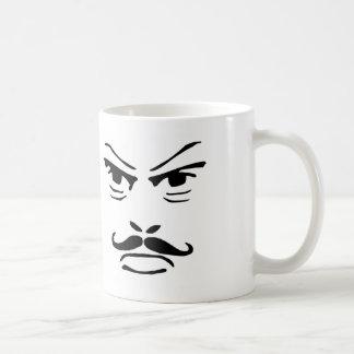 Serious Moustache Man Classic White Coffee Mug