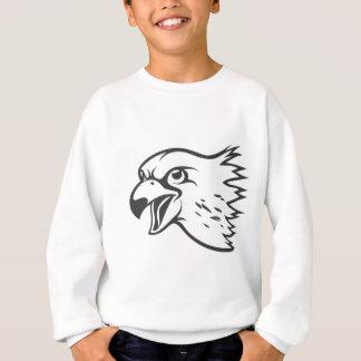 Serious Peregrine Falcon Bird in Black Sweatshirt