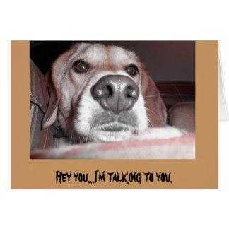 Serious pup card
