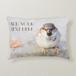 Serious Sparrow Accent Pillow
