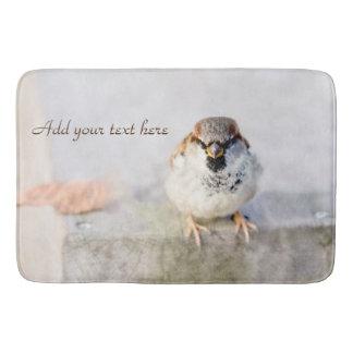 Serious Sparrow Bathroom Mat