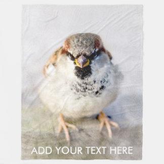 Serious Sparrow Fleece Blanket