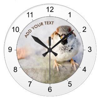 Serious Sparrow Wall Clocks