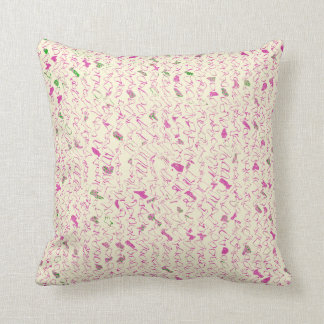 Serious Squiggles Throw Pillow