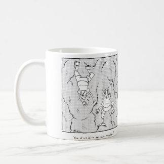 Serious trouble classic white coffee mug