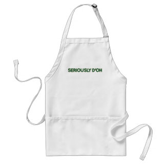 Seriously D'oh Standard Apron