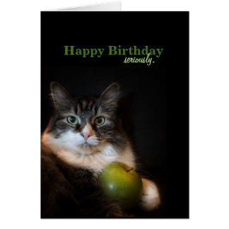 Seriously Funny Birthday Wishes Card