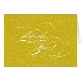 Seriously Scripty Golden Yellow Thank You Cards