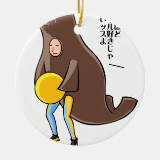 Serizawa English story Kamogawa Chiba Yuru-chara Ceramic Ornament