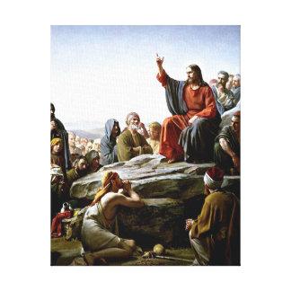 Sermon on the Mount - Carl Bloch painting Canvas Print