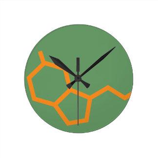 Serotonin Molecule - Happiness Wall Clock