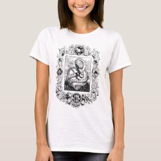 Serpent and apple-vintage sketch T-Shirt