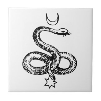 Serpent  - Pagan Symbols Tile