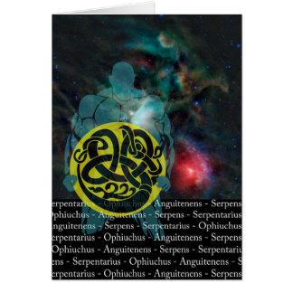Serpentarius, Ophiuchus, Serpent Bearer Card